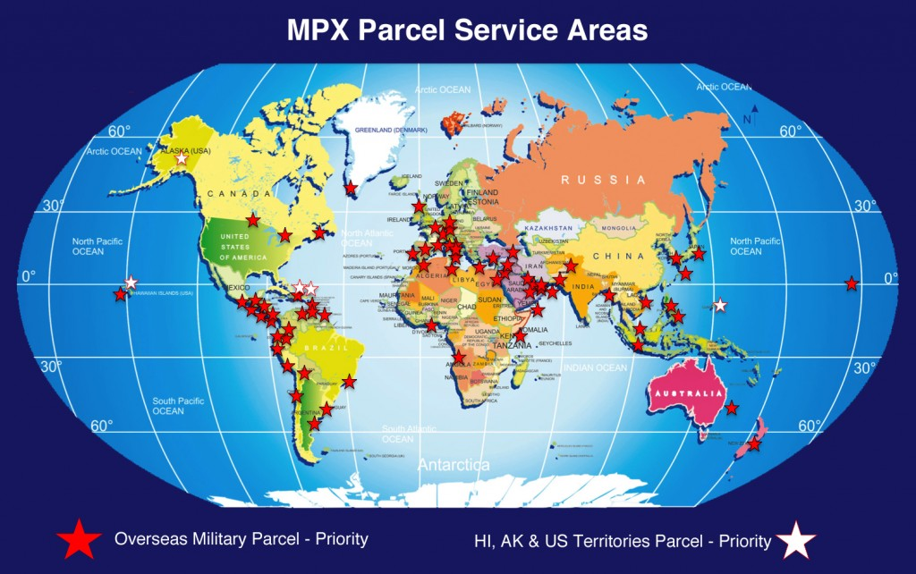 Service Map Rev - Overseas Military & HI AK